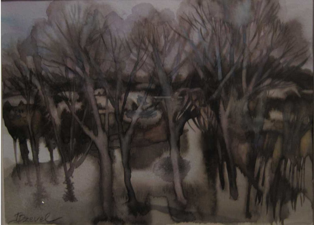 Irina_Dzevel_Brown-Polonaise_watercolor